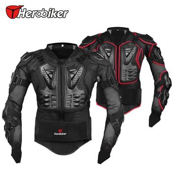 HEROBIKER Professional Motorcycle Body Protector Motocross Racing Full Body Armor Spine Chest Protective Jacket Gear