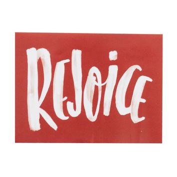 Rejoice Red Sticker