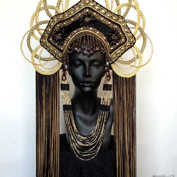 MADE TO ORDER  Gold  Empress Headdress