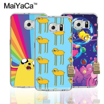 MaiYaCa Cartoon adventure time Pattern Transparent TPU Soft Phone Cover Case For Samsung s7 edge s8 s8plus s9 case