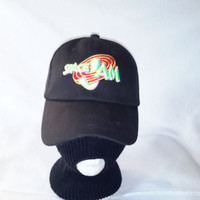 Space Jam Dad hat Retro strapback unstructured cap vtg Bugs Bunny Taz
