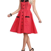 Hell Bunny Abby Polka Dot Flare Dress