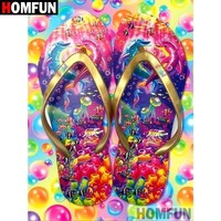 5D Diamond Painting Bright Colored Flip Flops Kit