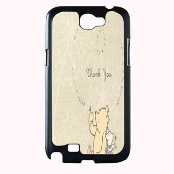classic winnie the pooh and piglet FOR SAMSUNG GALAXY NOTE 2 CASE**AP*
