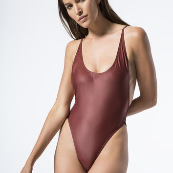 Attention Please One Piece in Plum