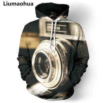 Liumaohua New Fashion Men Photographers Lens 3D All Over Print Pullover unisex Hoodies Hip Hop Hipster Jumper Sportwear tops