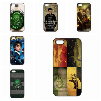 For Apple iPhone 7 Plus For Huawei Honor 5C 5X 7 V8 P9 Lite Nexus 6P Slytherin Harry Potter Protector Phone Cases