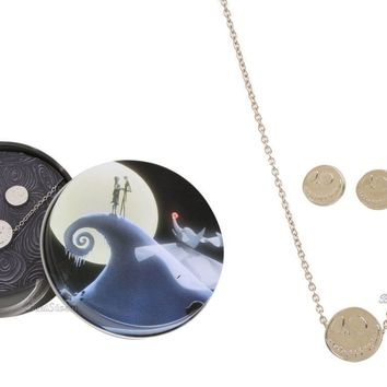 Licensed cool NEW 20TH ANN. NIGHTMARE BEFORE CHRISTMAS JACK NECKLACE & EARRINGS GIFT SET TIN