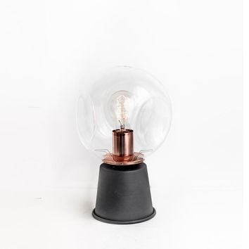 Sphere Copper Table Lamp