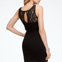 bebe Lace Inset Cutouts Sheath Dress -Online Exclusive