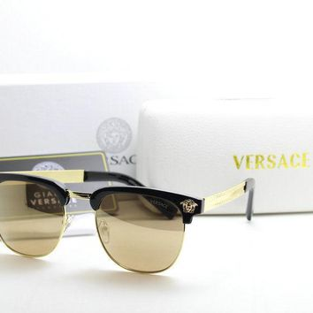 New Versace Men's Golden Black Sunglasses