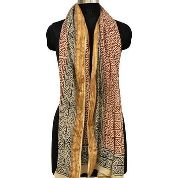 Gold Zari Cotton Cover Up Sarong, Pareo Resort wear, Pool Cover Up Wrap Scarf - Beach Lovers Gift