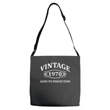 Vintage 1970 Aged to Perfection Adjustable Strap Totes