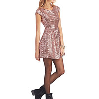 Pink Sequin Party Dress | Wet Seal