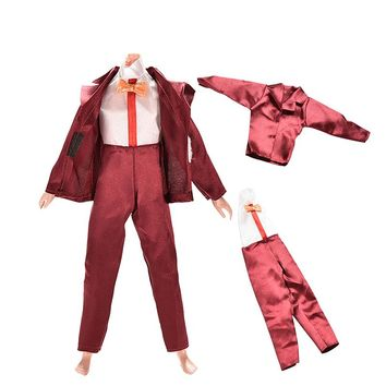 1Set Clothes for Barbie Ken Doll Outfit Jacket Coat Trousers for Barbie 25-30cm Doll Accessories Boy Gifts