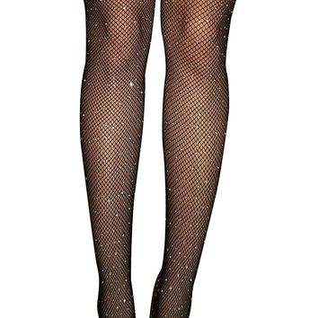4 Style Women Sexy Crystal Rhinestone Tights Fishnet Glittering Mesh Pantyhose Charm Stockings Club Party Hosiery 2017 New