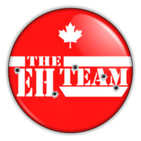 "Funny Canada A Team Eh 2.25"" Button pinback or magnet"