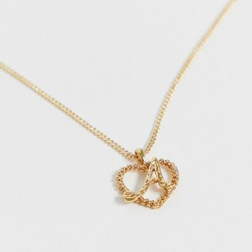 Reclaimed Vintage inspired gold plated A initial pendant necklace | ASOS