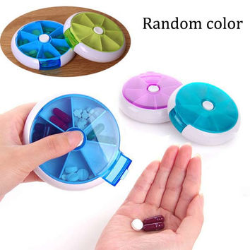 2017 New Weekly Rotating Sort Pillbox Travel Pill Container Pills Organizer Medicine Box Drugs Case