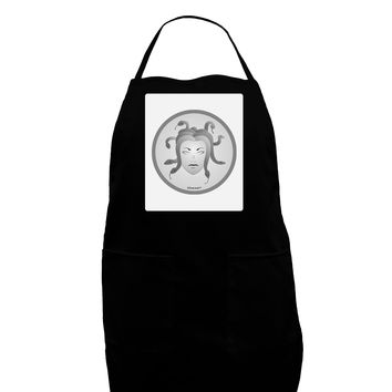 Medusa Head Coin - Greek Mythology Panel Dark Adult Apron by TooLoud