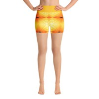 """""""Sunspots"""" Deluxe Made to Order Yoga Shorts"""