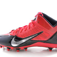Nike Alpha Pro 3/4 TD Men's Black/Red/Silver Football Cleats Shoes