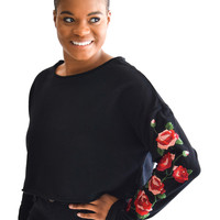 Perfect Day Rose Embroidered Top
