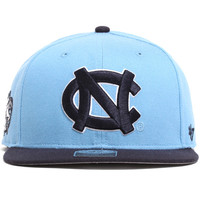 North Carolina Tarheels Two Tone Sure Shot Snapback Hat Light Blue / Navy