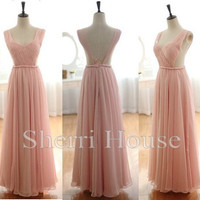 Ruffled Strapless Wide Strpas Backless Long Bridesmaid Celebrity dress ,Floor length Chiffon Evening Party Prom Dress Homecoming Dress
