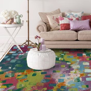 Ruggable 2-Piece Washable Rug - Watercolor Abstract