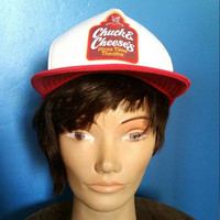 1986 Vintage Chuck E Cheese Trucker Hat