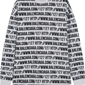 Balenciaga - Oversized printed cotton-jersey sweatshirt