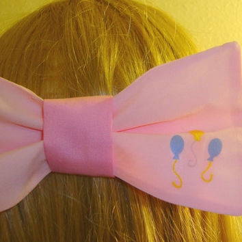 Pinkie Pie Hair Bow Tie My Little Pony Cutie Mark Barrette
