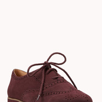 Spiffy Faux Leather Brogues