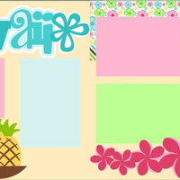 Scrapbook Page Kit 2-page 12X12 Premade Scrapbooking Page Layout or Page Kit - Hawaii