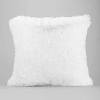 Plum & Bow Faux Fur Pillow- Ivory One