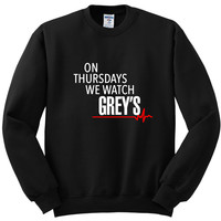 "Grey's Anatomy ""On Thursdays We Watch Grey's"" Crewneck Sweatshirt"