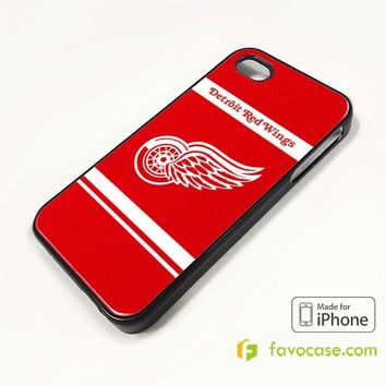 DETROIT RED WINGS iPhone 4/4S 5/5S/SE 5C 6/6S 7 8 Plus X Case Cover