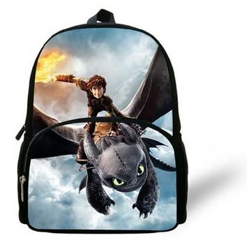 Cool Backpack school 12-inch Cool Toothless School backpacks Kids Boys How to Train Your Dragon Backpack Child School Bags Dragon Mochilas Escolares AT_52_3