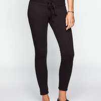 Full Tilt Womens Fleece Skinny Pants Black  In Sizes