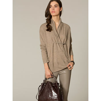 Luxe Toggle Wrap Neck