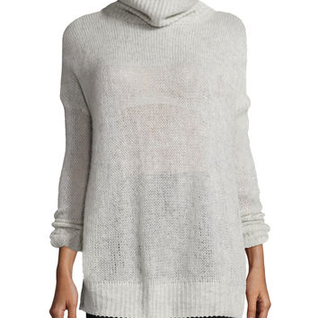 Rag & Bone Philipa Knit Cashmere Turtleneck Sweater, Light Gray | Neiman Marcus