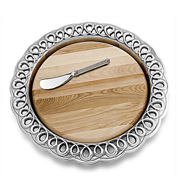 Wilton Armetale Boucle Cheese Board
