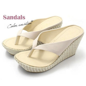 Platform wedges sandals for women high heel sandals slippers sandals for summer beachwear = 4776777540