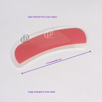 Color Options Czech Glass Arc Nail File with Edge Filing Groove