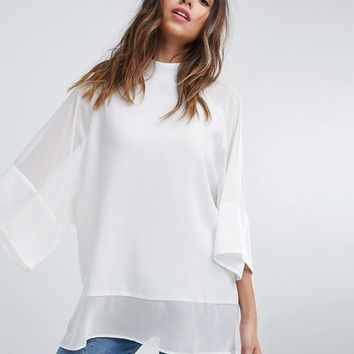 ASOS Sheer and Solid Oversize Tee at asos.com