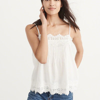 Womens Lace Trim Cami | Womens Tops | Abercrombie.com