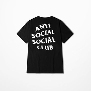 anti social social club BLACK T Shirt