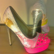 Vintage BARBIE Sparkly shoes heels - UK size 4