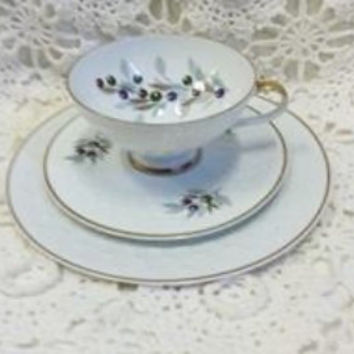 Vintage Schumann Arzberg Germany Lilac Time Dish Relish Candy Wedding Shabby Cottage Chic
